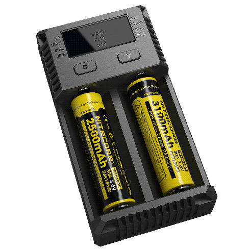 NITECORE New i2 (2016 version) Intellicharge Universal Smart Battery Charger, for AAA AA Li-Ion/NiMH US Plug