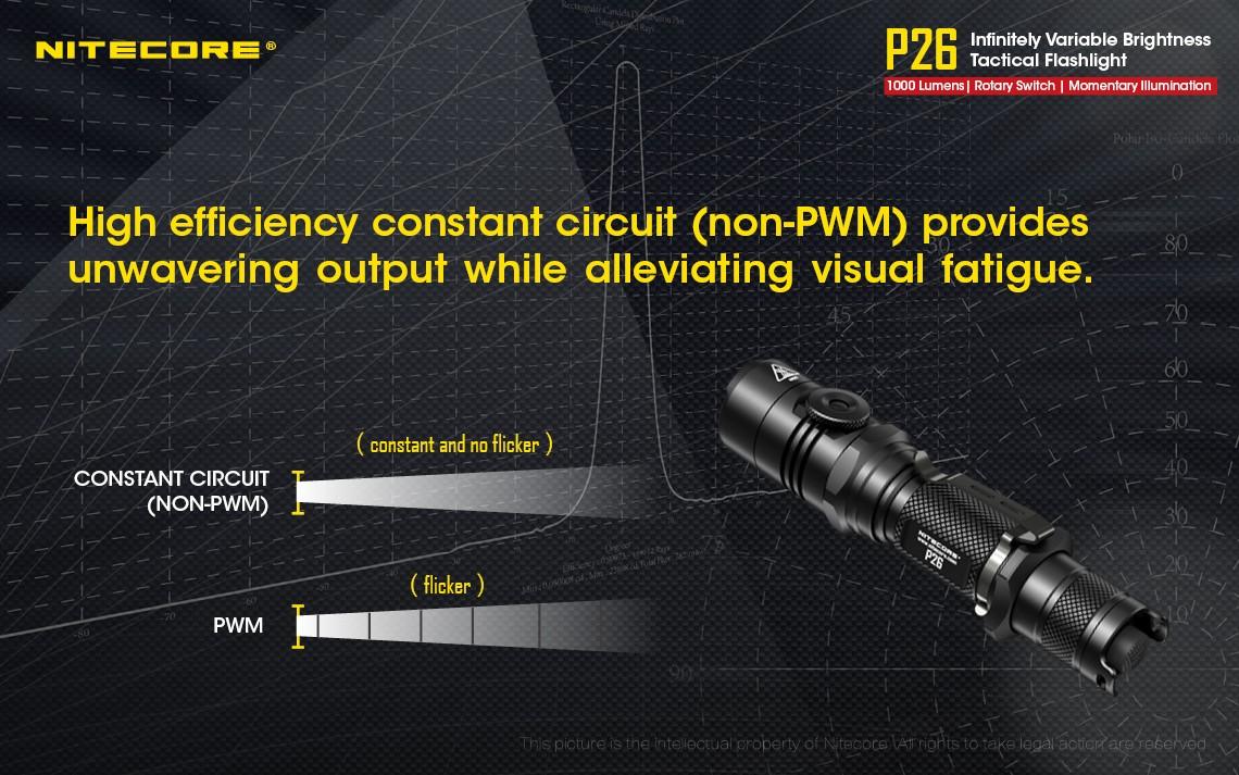 Nitecore P26 Flashlight 1000lm Cree Xp L Hi V3 Led Rotary Switch Schematic Application Tactical