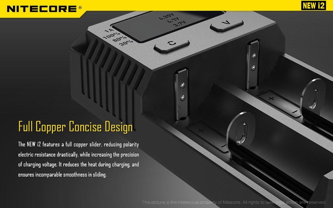 NITECORE New i2 (2016 version) Intellicharge Universal Smart Battery ...
