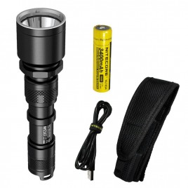 NITECORE MH25GT 1000 Lumen 494 Yards USB Rechargeable LED Flashlight with 2x CR123A batteries