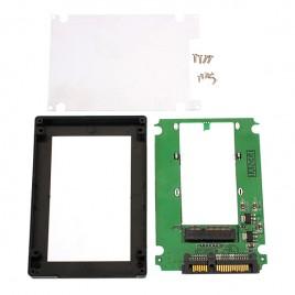 mSATA Mini PCI-E SSD to 2.5 SATA Converter Adapter With Case