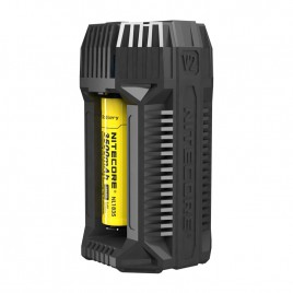 Nitecore V2 6A 2-Channel In-Car Speedy Battery Charger with 12V Lighter Adapter