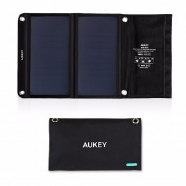 AUKEY 14W Solar Charger Backup Foldable USB Solar Power Panel