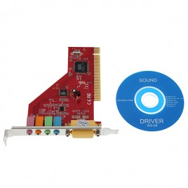 4 Channel 3D Audio Internal PC PCI Sound Card with Game Midi Port